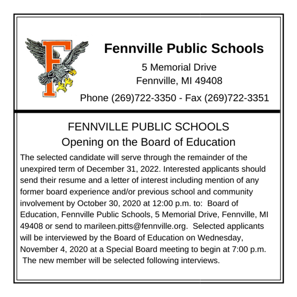 Opening on the Board of Education
